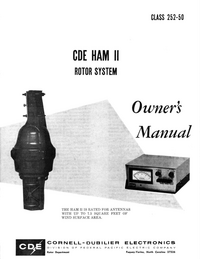 User Manual CDE CDE HAM II