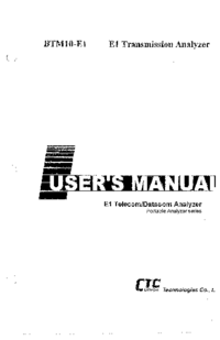Instrukcja obsługi CTCUnion BTM10-E1