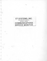 Serwis i User Manual CT_Systems 3000B