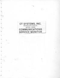 Servizio e manuale utente CT_Systems 3000B