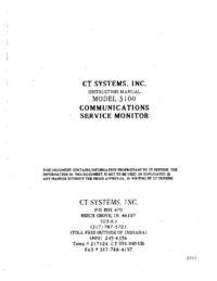 Serviço e Manual do Usuário CT_Systems 3100