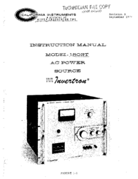 Service and User Manual CaliforniaInstruments 1503T