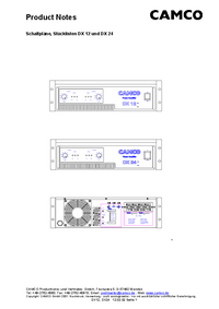 Cirquit Diagramma Camco DX 24