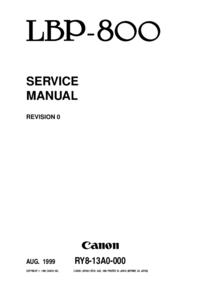 Manual de servicio Canon LBP-800