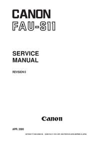 Manual de servicio Canon FAU-S11