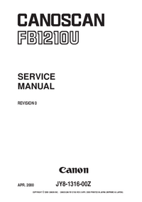 Manual de servicio Canon FB1210U