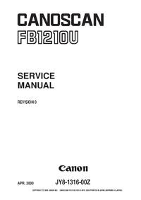 Руководство по техническому обслуживанию Canon FB1210U