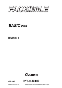 Manual de servicio Canon Basic 2000