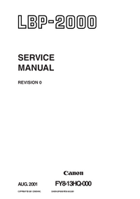 Service Manual Canon LBP-2000