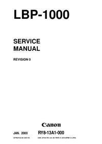 Servicehandboek Canon LBP-1000
