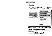 User Manual Canon PowerShot A460