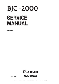 Service Manual Canon BJC-2000