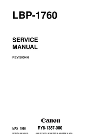 Manual de servicio Canon LBP-1760
