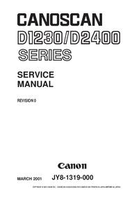 Manual de servicio Canon Canoscan D-1230
