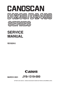 Service Manual Canon Canoscan D-1230