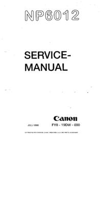 Manual de serviço Canon NP6012