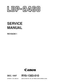 Manual de serviço Canon LBP-2460