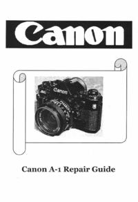 Руководство по техническому обслуживанию Canon A-1