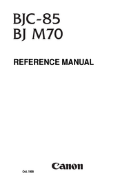 Service Manual Canon BJC-85