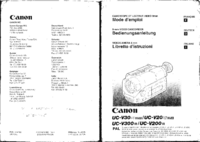 User Manual Canon UC-V200
