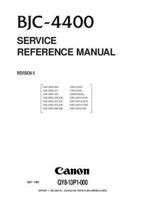 Manual de servicio Canon BJC-4400
