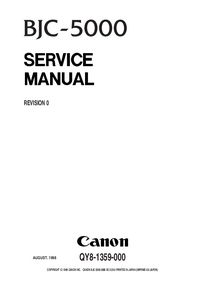 Service Manual Canon BJC-5000