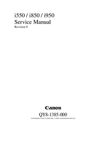 Service Manual Canon i850