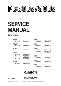 Manual de servicio Canon PC890