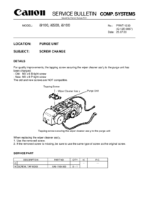 Service Manual Supplement Canon i9100