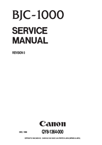 Service Manual Canon BJC-1000