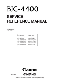 Manuale di servizio Canon BJC-4400
