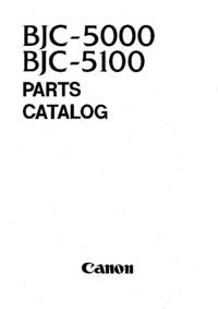 Liste des pièces Canon BJC-5100