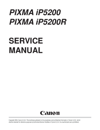Service Manual Canon PIXMA IP5200