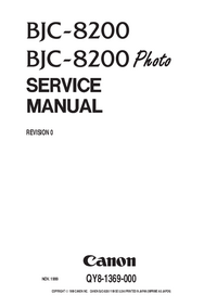 Manual de servicio Canon BJC-8200 Photo