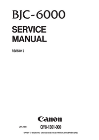 Service Manual Canon BJC-6000