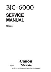 Manual de serviço Canon BJC-6000