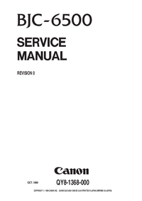 Service Manual Canon BJC-6500