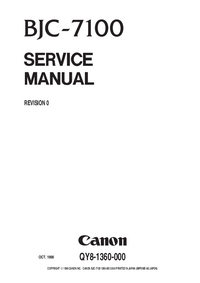 Service Manual Canon BJC-7100