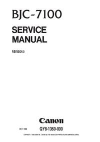 manuel de réparation Canon BJC-7100
