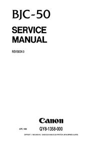 Service Manual Canon BJC-50