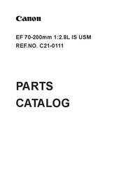 Часть Список Canon EF 70-200mm 1:2.8L IS USM