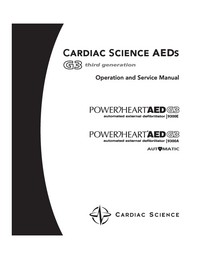 Service and User Manual CardiacScience PowerHeart AED G3 9300E