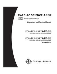 Обслуживание и Руководство пользователя CardiacScience PowerHeart AED G3 9300A