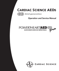 Serwis i User Manual CardiacScience Powerheart AED G3 Pro
