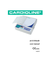 Gebruikershandleiding Cardioline ar2100adv