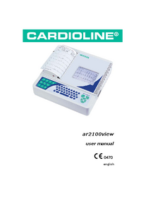 Manual del usuario Cardioline ar2100view