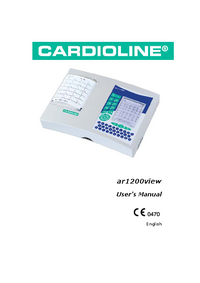 User Manual Cardioline ar1200view