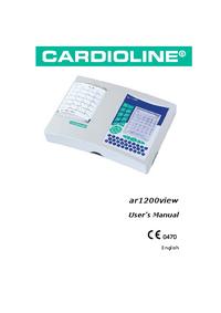Instrukcja obsługi Cardioline ar1200view