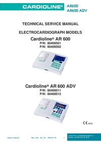 Manuale di servizio Cardioline AR600 ADV