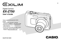User Manual Casio Exilim EX-Z750